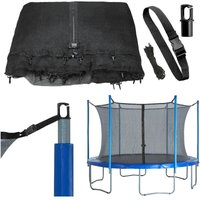 10ft Trampoline Replacement Enclosure Surround Safety Net | Universal Protective Netting Compatible with Multiple Poles | Pole Caps Included