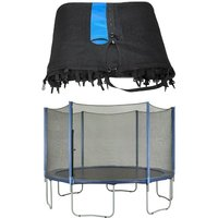 12ft Trampoline Replacement Enclosure Surround Safety Net   Protective Outside Netting Compatible with 8 Straight Poles