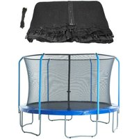 12ft Trampoline Replacement Enclosure Surround Safety Net   Protective Top Ring System Netting Compatible with 4 Curved (Bent) Poles