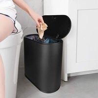 Trash Can, 10 Liter / 2.4 Gallon Plastic Slim Garbage Contai