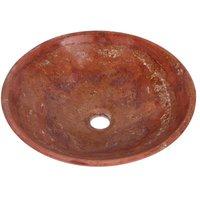 Travertine Marble Stone Round Bowl Bathroom Wash Basin 300mm diameter B0065