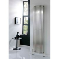 TRC Ceres Stainless Steel Brushed Vertical Designer Radiator 1800mm x 390mm