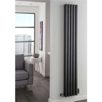 TRC Ellipsis Steel RAL Vertical Double Panel Designer Radiator 2000mm x 600mm