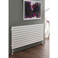 TRC Piano Steel White Single Panel Horizontal Designer Radiator 736mm x 1220mm