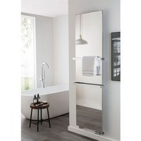 TRC Relax Bagno Polished Stainless Steel Vertical Single Panel Radiator 1553mm x 653mm