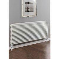 Sitar Steel White Double Panel Horizontal Designer Radiator 708mm x 1820mm - TRC