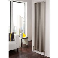 TRC Sitar Steel White Vertical Double Panel Designer Radiator 920mm x 402mm