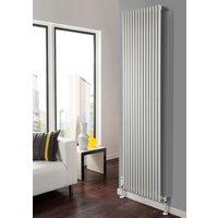Sitar Steel White Vertical Single Panel Designer Radiator 1220mm x 810mm - TRC