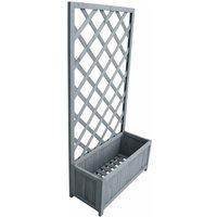 Trellis Planter 30x70x135 cm Solid Firwood - Grey - Vidaxl