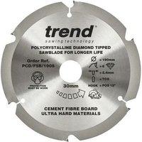 PCD 190MM X 6T X 30MM Diamond Blade Fibre Cement Board - Trend