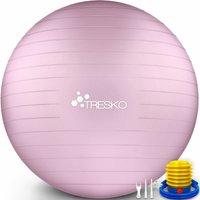 Palla Fitness, Palla Pilates Anti-Scoppio 55cm/65cm/75cm/85cm Palla da Ginnastica con Pompa Rapida per Fitness Yoga e Pilates (Princess Pink, 75 cm)