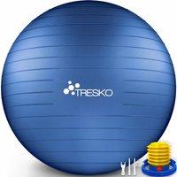 Palla Fitness, Palla Pilates Anti-Scoppio 55cm/65cm/75cm/85cm Palla da Ginnastica con Pompa Rapida per Fitness Yoga e Pilates (Indigo Blue, 55 cm)