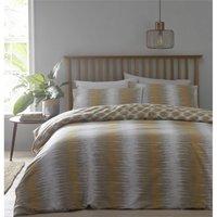 Bedmaker - Tribal Ethnic Super King Size Duvet Cover Set Bedding Reversible Quilt Ochre