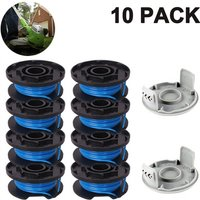Zqyrlar - Trimmer Replacement Spool Line Include 2 Trimmer Cap Compatible Ryobi One+ AC14RL3A 18V, 24V,40V Cordless Trimmers, 8+2PACK