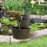Triple Barrel Water Feature