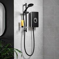 Aspirante 9.5KW Matt Black Electric Shower - Includes Head + Riser Rail - Triton