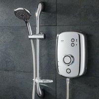 Kito 9.5kw Polished Chrome Electric Shower -Rp T80XR Aquatronic Enlight - Triton