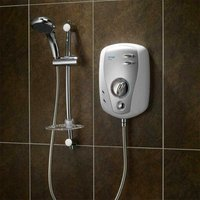 Triton T100xr Electric Shower 10.5kW White and Chrome - TRITON SHOWERS