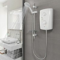 Triton T80 Pro Fit Electric Shower 7.5kW - White and Chrome - TRITON SHOWERS