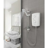Triton T80 Pro Fit Electric Shower 8.5kW - White and Chrome