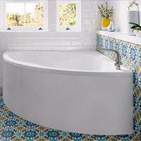 Laguna Double Ended Corner Bath 1350mm x 1350mm - No Tap Hole - Trojan