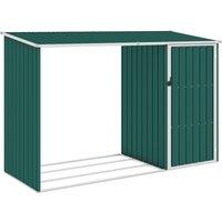 Abri à bois de jardin Vert 245x98x159 cm Acier galvanisé - True Deal