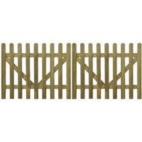 Portail de clôture à piquets 2 pcs Bois imprégné 300x120 cm - True Deal