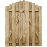 Portail de jardin Bois de pin imprégné 100x125 cm - True Deal