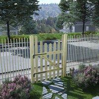 Portail de jardin Pin imprégné 100 x 150 cm - True Deal