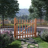 Portillon de clôture Bois de noisetier imprégné 100 x 90 cm - True Deal