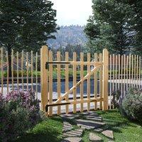 True Deal Portillon de clôture simple Bois de noisetier 100 x 100 cm