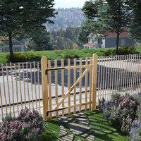 Portillon simple Bois de noisetier 100 x 120 cm - True Deal