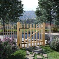 True Deal Portillon simple de clôture Bois de noisetier 100 x 90 cm