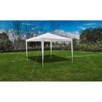 Tonnelle Pavillon de jardin blanc 3x3m - True Deal