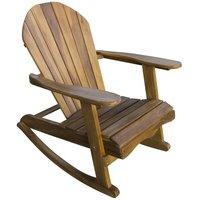 Teak Adirondack Rocking Chair - Wooden Outdoor Patio Garden Furniture
