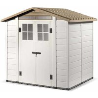 Tuscany Evo 66 x 54 200 Apex Plastic Shed Double Door with Two Perspex Windows