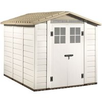 Tuscany Evo 66 x 8 240 Apex Plastic Shed Double Door with Two Perspex Windows