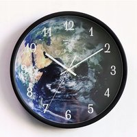 Two-in-One Wallory Wall Clock Hall Decoration Chamber Voice Control Sensor LED Black Wall Clock Night