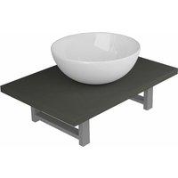 Betterlifegb - Two Piece Bathroom Furniture Set Ceramic Grey14629-Serial number