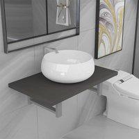 Two Piece Bathroom Furniture Set Ceramic Grey14630-Serial number