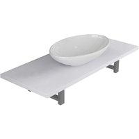 vidaXL Two Piece Bathroom Furniture Set Ceramic White - White