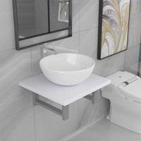 Betterlifegb - Two Piece Bathroom Furniture Set Ceramic White14621-Serial number