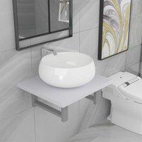 Betterlifegb - Two Piece Bathroom Furniture Set Ceramic White14623-Serial number
