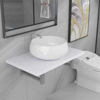Betterlifegb - Two Piece Bathroom Furniture Set Ceramic White14638-Serial number