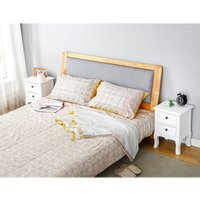 Two white bedside tables with two drawers 35 * 30 * 50cm - DAZHOM