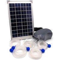 Ubbink Pompa di Aerazione Esterna Air Solar 600 1351375 - Grigio