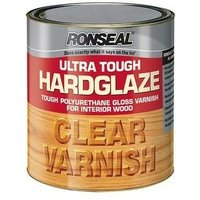34762 Ultra Tough Hardglaze Internal Clear Gloss Varnish 2.5 Litre - Ronseal