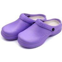Unisex Garden Clogs Waterproof & Lightweight EVA Shoes Anti-slip Nursing Slippers Women or Men Sandals for Homelife Work,model:Purple 40