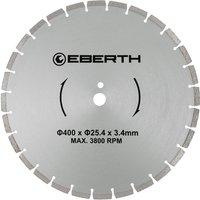 Eberth - Universal diamond cutting disc blade grinder cutter cutting stone brick tiles (diameter 400 mm, blade thickness 3,4 mm, bore diameter 25,4
