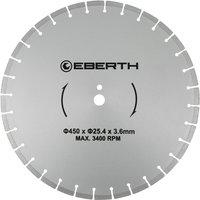 Eberth - Universal diamond cutting disc blade grinder cutter cutting stone brick tiles (diameter 450 mm, blade thickness 3,6 mm, bore diameter 25,4